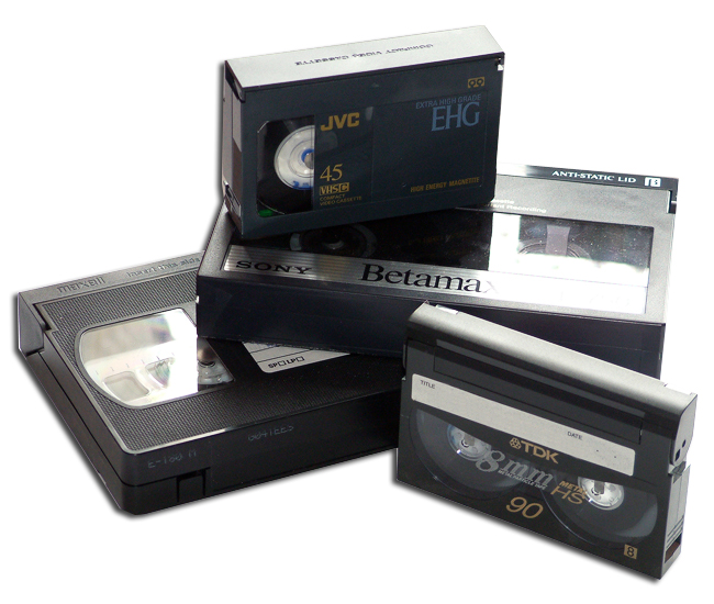 Omzetten van Videocassettes en camera tapes